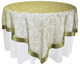 ... Picture Of A Gold Table Overlay ...